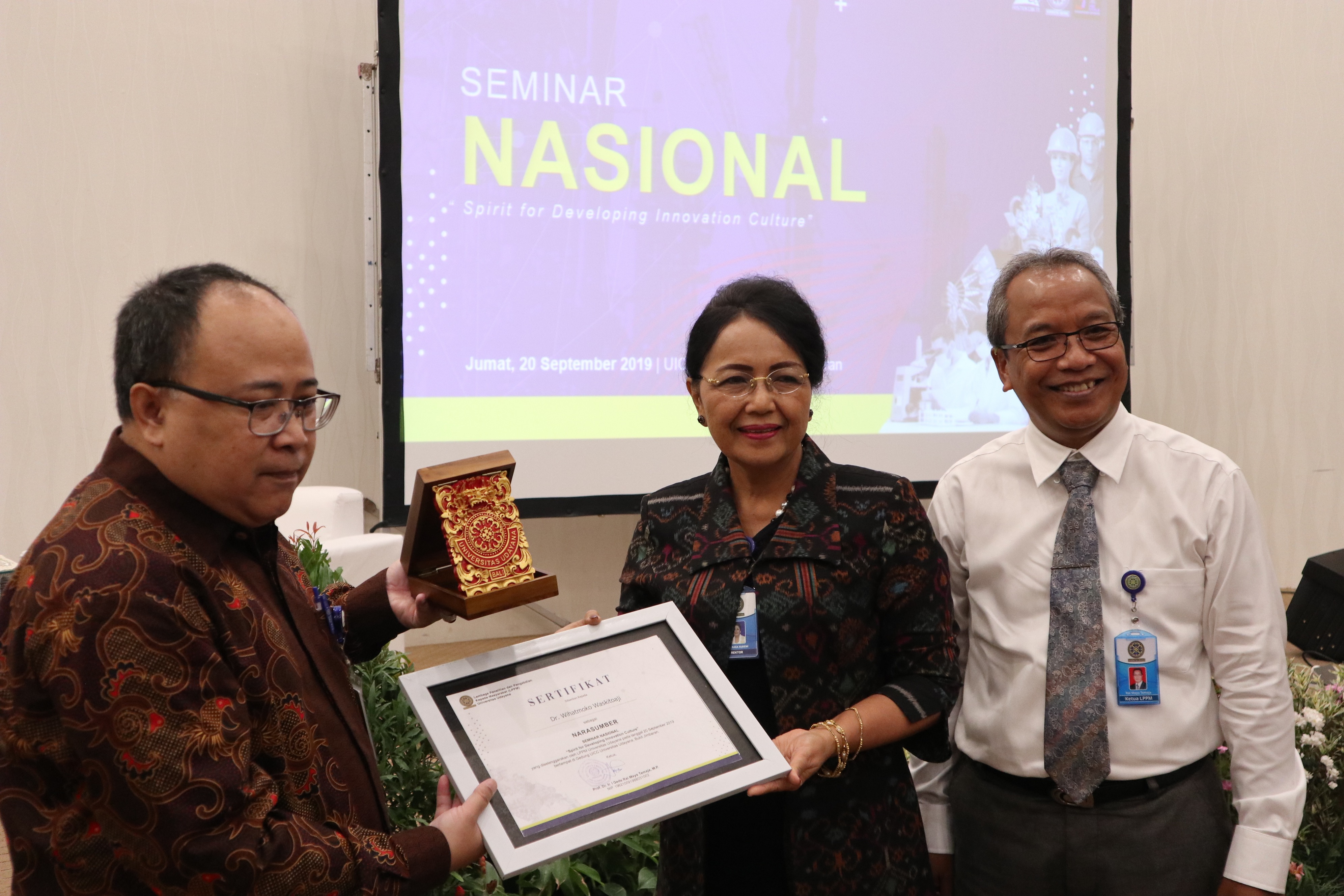 "LPPM UNUD Gelar Seminar Nasional ""Spirit for Developing Innovation Culture"""